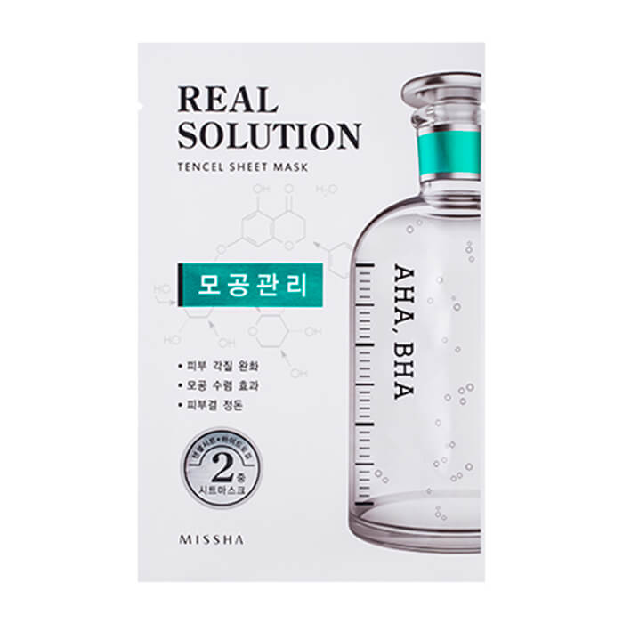 Маска для кожи с расширенными порами Missha Real Solution Tencel Essential Sheet Mask Pore Control real madrid zalgiris kaunas