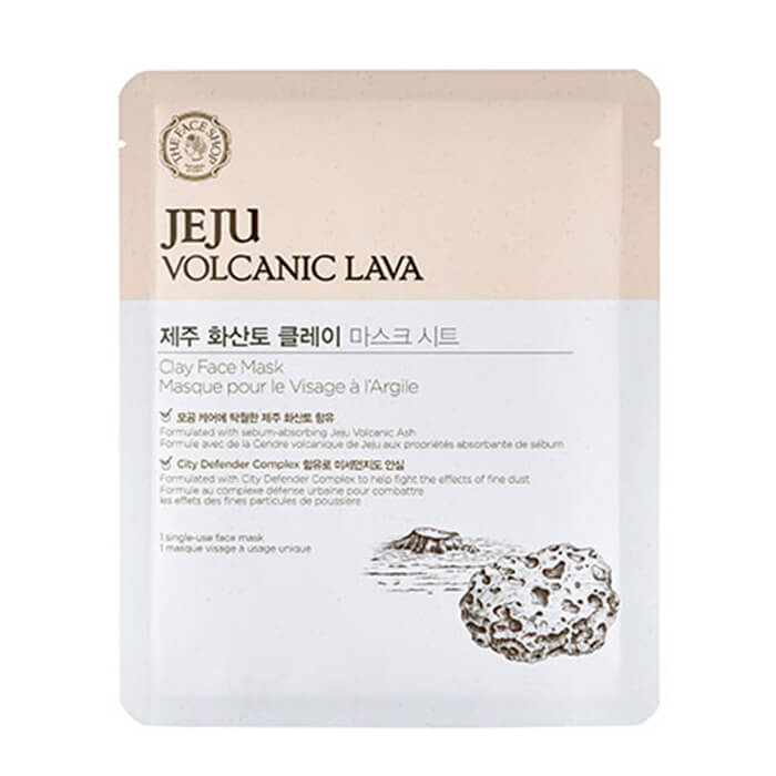 Маска для очищения лица The Face Shop Jeju Volcanic Lava Clay Face Mask pilaten blackhead acne remover face mask deep cleansing