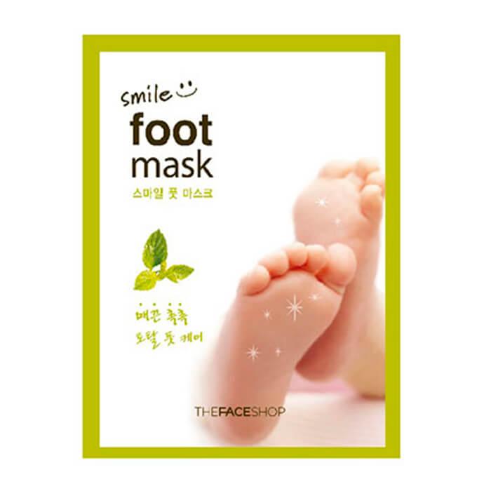 Увлажняющая маска-носочки для ног The Face Shop Smile Foot Mask носочки для педикюра the face shop smile foot mask объем 18 мл