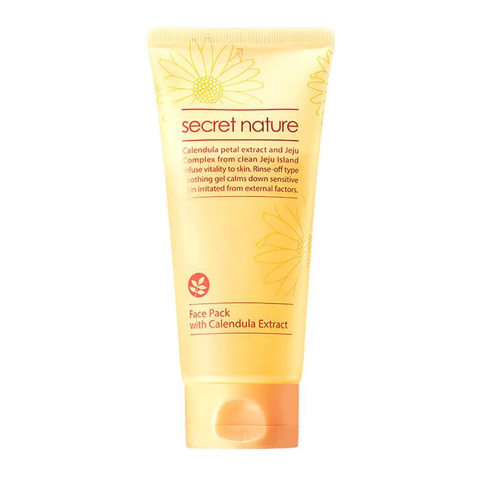 Смягчающая маска для лица с лепестками календулы Secret Nature Calendula Real Petal Pack аврора бутон 10049 1b