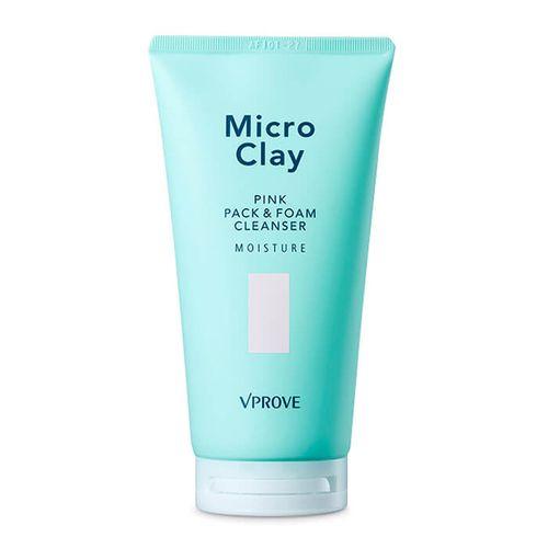 Увлажняющая маска для лица Vprove Micro Clay Pink Pack and Foam Cleanser Moisture маска для глубокого очищения кожи vprove micro clay black mud pack purifyng