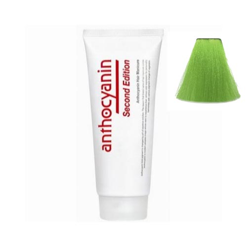 Краска для волос с эффектом биоламинирования Anthocyanin Anthocyanin G04 Lime Green 230g цена 2017