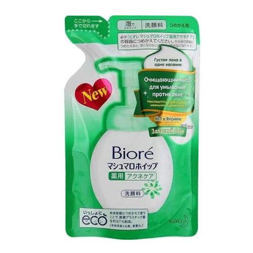 Мусс для умывания против акне Biore Biore Мусс очищающий для умывания против Акне (Refill) biore мусс для умывания очищающий 150 мл