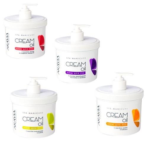 Крем для рук с маслами Aravia Professional Aravia Professional Cream Oil 550 мл крем aravia professional cream inhibitor post epil 100 мл