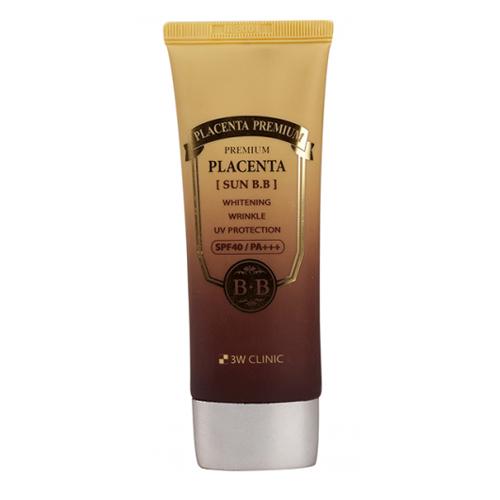 Плацентарный ВВ крем для увлажнения и восстановления кожи 3W Clinic Premium Placenta Sun BB Cream bb кремы герцина вв крем серии герцина оттенок 3 прозрачный 30гр