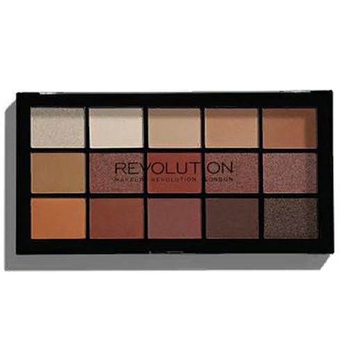 Тени для век теплых оттенков MakeUp Revolution Re Loaded Palette Iconic Fever no 02 multifunction rectangle box makeup 120 colors eye shadows palette for ladies
