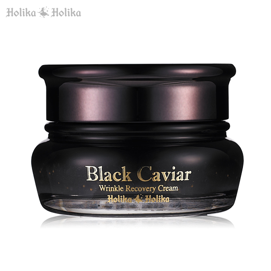 Крем с чёрной икрой Holika Holika Black Caviar Anti Wrinkle Cream roe essence caviar extract eyes cream anti wrinkle repair fine lines anti aging moisturizing dilute black eye remove pouch 1000g