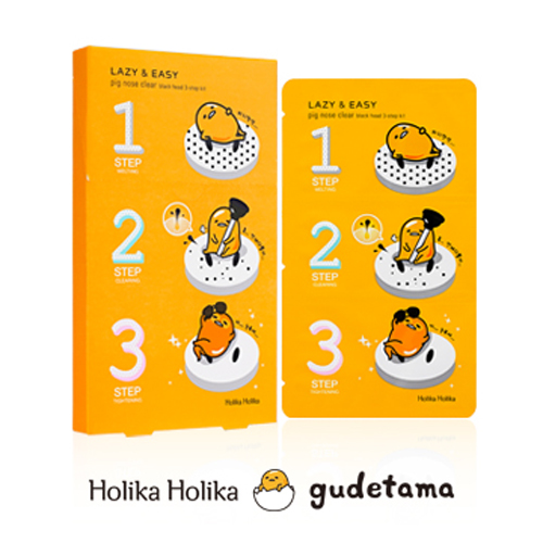 Трехступенчатая система для носа Holika Holika Gudetama Pig-nose 3-step Kit патчи для носа holika holika pig clear black head 3 step kit strong