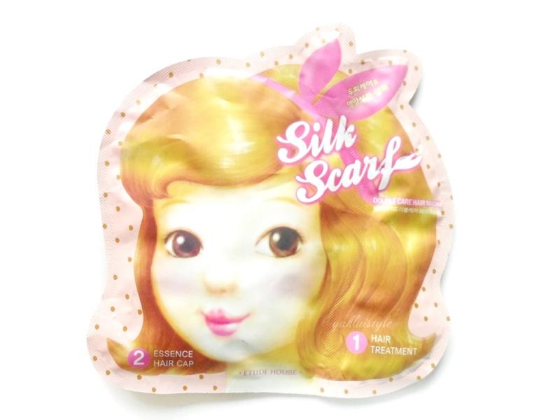 Восстанавливающая маска-шапочка для волос Etude House Silk Scarf Double Care Hair Mask