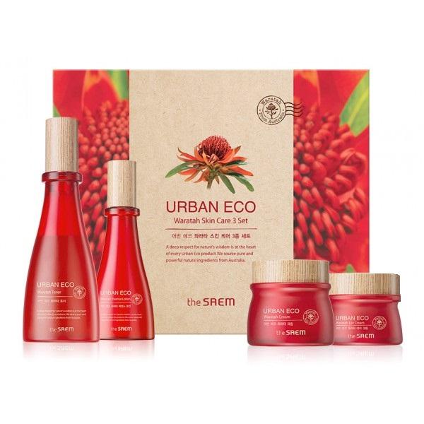 Набор средств с телопеей The Saem Urban Eco Waratah Skin Care 3 Set крем the saem urban eco waratah cream 60 мл