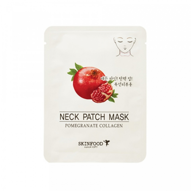 Маска для области шеи SKINFOOD Pomegranate Collagen Neck Patch Mask patch