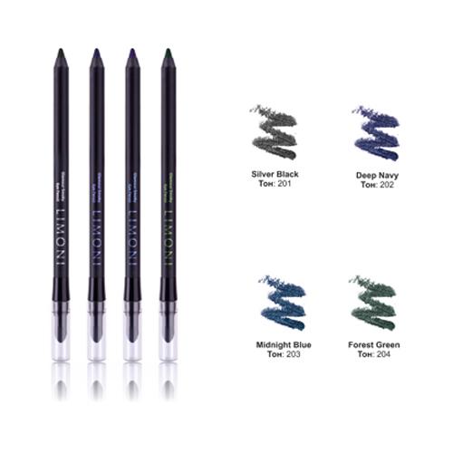 Гелевый карандаш для век с текстурой металлик Limoni Glamour Smoky Eye Pencil карандаши limoni precision eyeliner pencil 03