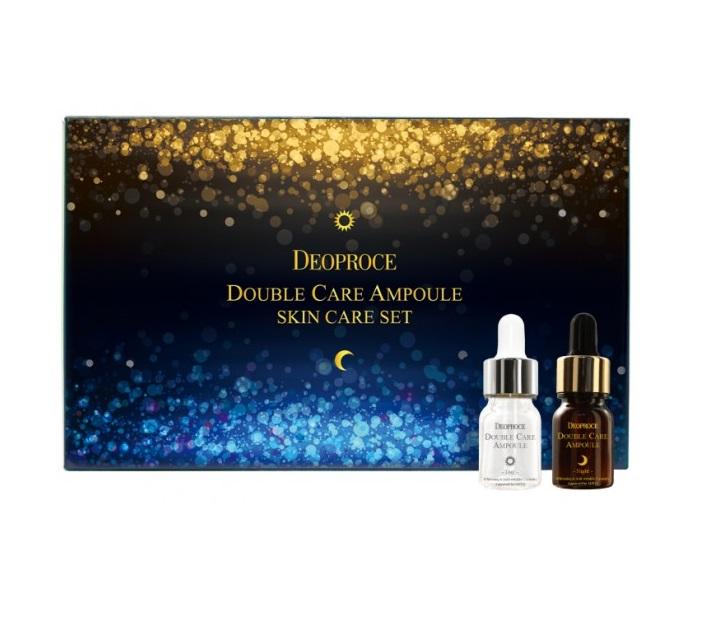Набор антивозрастных ампул для двойного ухода день и ночь Deoproce Double Care Ampoule Set Day and Night