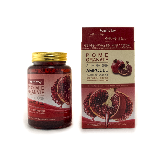 Гель-сыворотка с гранатом Farmstay All In One Pomegranate Ampoule 2pcs pomegranate