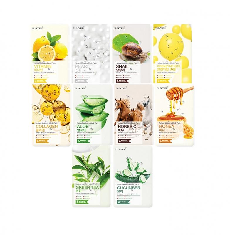 Серия тканевых масок Eunyul Eunyul Natural Moisture Mask Pack тканевая маска eunyul natural moisture mask pack coenzyme q10 объем 22 мл