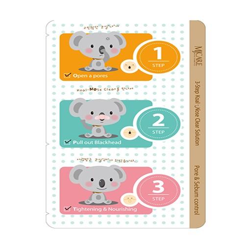 3-х ступенчатые патчи для очищения носа Mijin -Step Koala Nose Clear Solution