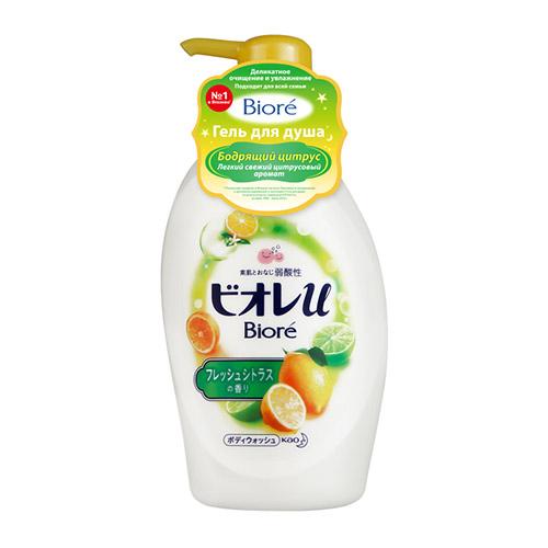 Японский гель для душа Biore Biore Гель для душа Бодрящий Цитрус 480 мл biore гель для душа бодрящий цитрус 480 мл