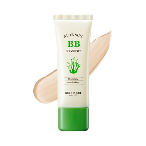 Солнцезащитный BB крем SKINFOOD Aloe Sun BB Cream SPF 20 bb крем lumene valo bright boost bb cream spf 20 цвет light medium variant hex name c7a082