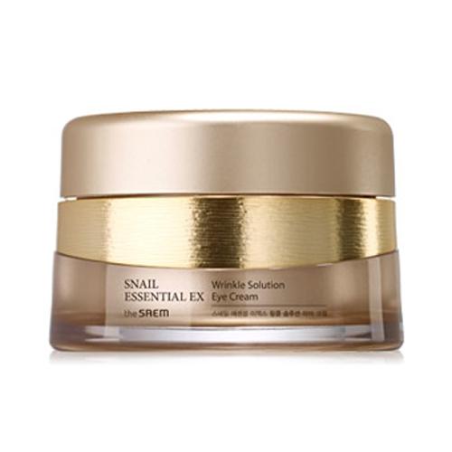 Улиточный крем для кожи вокруг глаз The Saem Snail Essential EX Wrinkle Solution Eye Cream тональный крем the saem porcelain skin bb cream spf30 ра 02