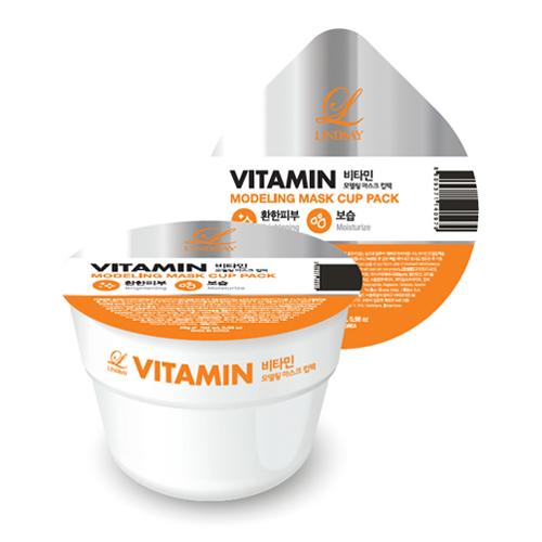 Альгинатная маска обогащенная витамином  оказывает мощное антиоксидантное действие, способствует замедлению синтеза меланина  устраняет пигментацию Lindsay Disposable Modeling Mask Cup Pack Vitamin