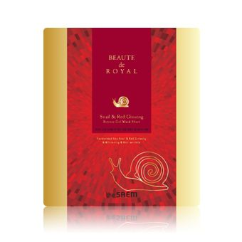 гидрогелевая маска The Saem Beaute de Royal Snail and Red Ginseng Intense Gel Mask Sheet
