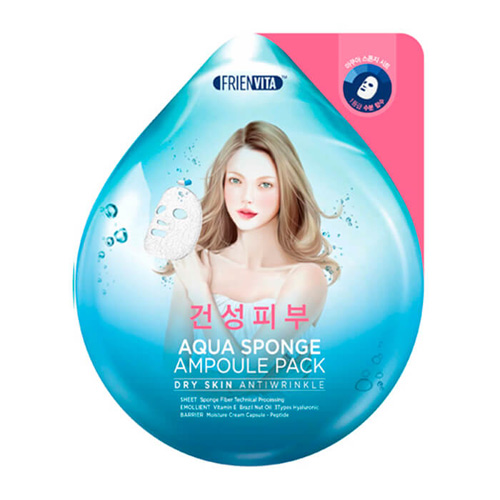 Ампульная крем-маска с гиалуроновой кислотой и пептидами Frienvita Aqua Sponge Dry Skin Ampoule Pack jacob delafon patio rus sf121ru nf