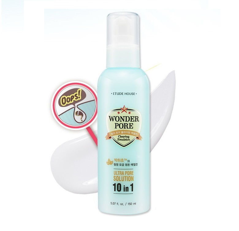 Очищающая эмульсия для кожи с расширенными порами Etude House Wonder Pore Clearing Emulsion маска a pieu fresh mate peat mask pore clearing 50 мл
