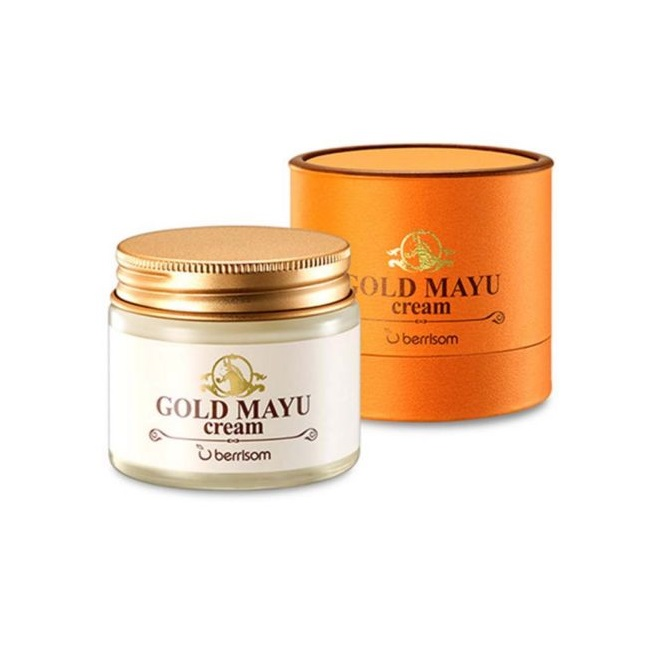Омолаживающий крем с лошадиным жиром и золотом Berrisom Gold Mayu Cream питательный крем для лица c лошадиным жиром elizavecca milky piggy origin ma cream