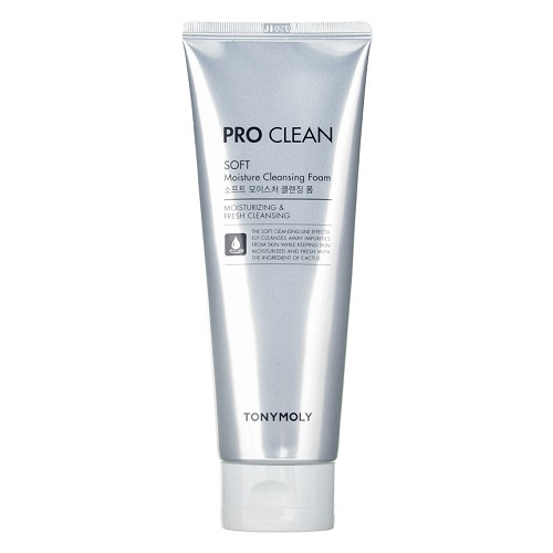Мягкая пенка для умывания Tony Moly Pro Clean Soft Moisture Cleansing Foam очищающая пенка скраб tony moly pro clean smoky scrub deep cleansing foam