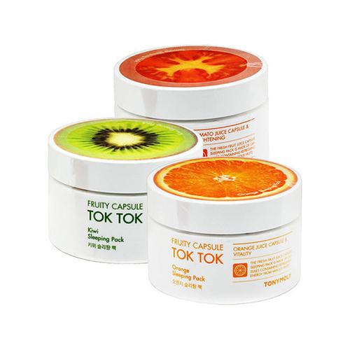 Фруктовые ночные маски Tony Moly Fruity Capsule Tok Tok Sleeping Pack