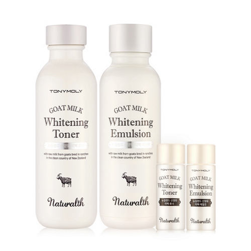 Набор из двух средств с козьим молоком Tony Moly Naturalth Goat Milk Whitening 2 Set