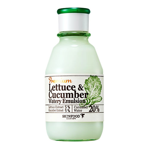Увлажняющая эмульсия с латуком и огурцом SKINFOOD Premium Lettuce and Cucumber Watery Emulsion эмульсия skinfood premium lettuce