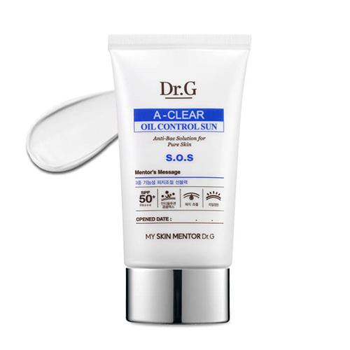Солнцезащитный матирующий крем для проблемной и грубой кожи Dr.G A-Clear Oil Control Sun 24 flexible oil funnels