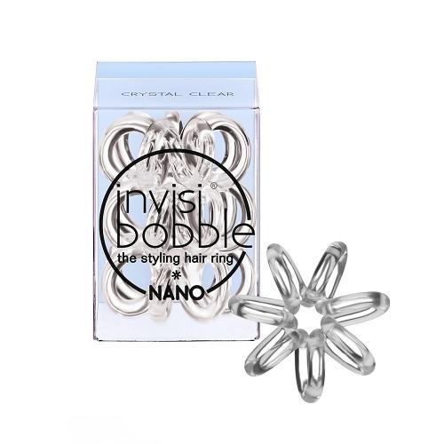 Набор маленьких резинок-браслетов для волос Invisibobble Nano Crystal Clear redlai colors crystal clear laptop case