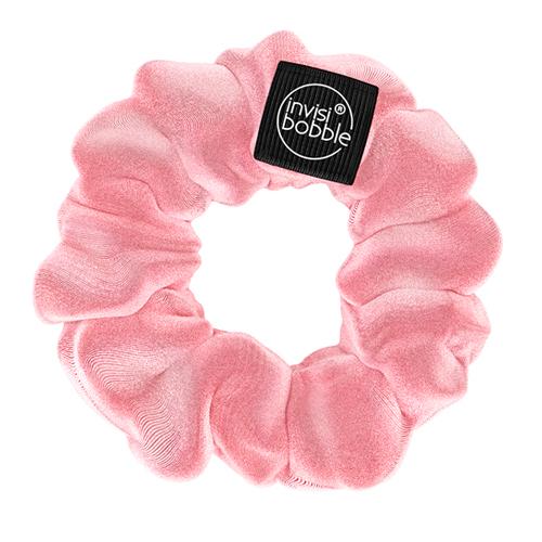Розовая тканевая резинка для волос Invisibobble