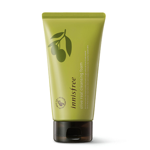 Пенка для умывания для сухой кожи с маслом оливы Innisfree Olive Real Cleansing Foam акне cow brand gyunyu sekken skinlife medicated acne care cleansing foam объем 130 г