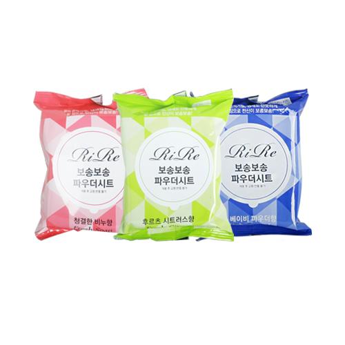 Мягкие влажные салфетки для лица и тела RiRe Bosong Bosong Powder Sheet