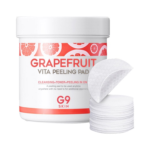 Мягкие пилинговые салфетки с экстрактом грейпфрута Berrisom G9 Skin Grapefruit Vita Peeling Pad 2016 best offer portable skin scrubber ultrasonic massager ultrasound facial peeling cleaner