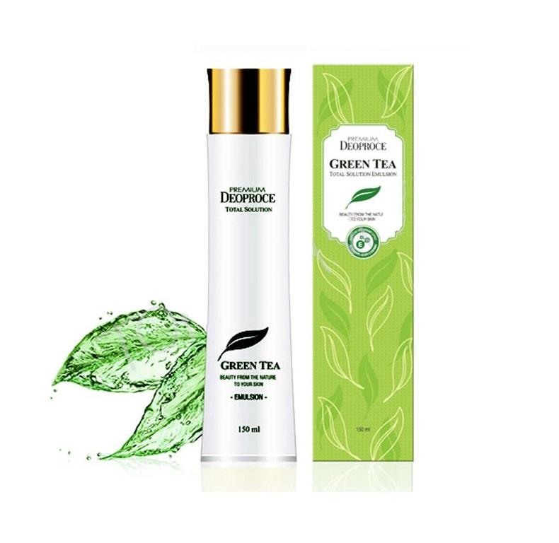 Освежающая эмульсия для лица Deoproce Premium Green Tea Total Solution Emulsion эмульсия deoproce repair solution emulsion 240 мл