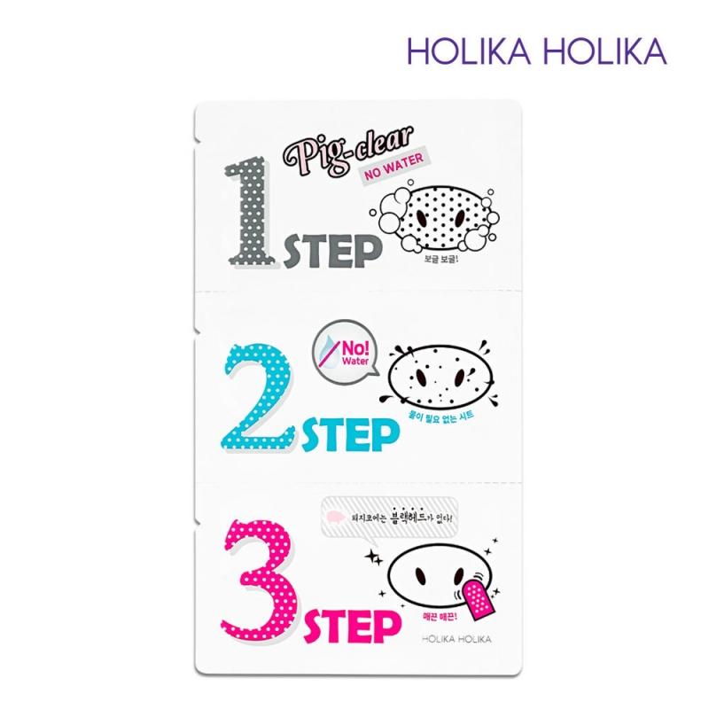 Систем для борьбы с черными точками Holika Holika Pig Clear Blackhead 3-step Kit No Water очищение holika holika бальзам pignose clear black head deep cleansing oil balm объем 30 мл