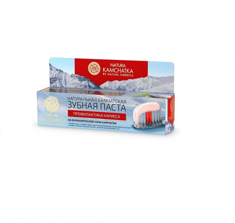 Органическая зубная паста для укрепления эмали Natura Siberica Natura Kamchatka Паста зубная профилактика кариеса для всей семьи