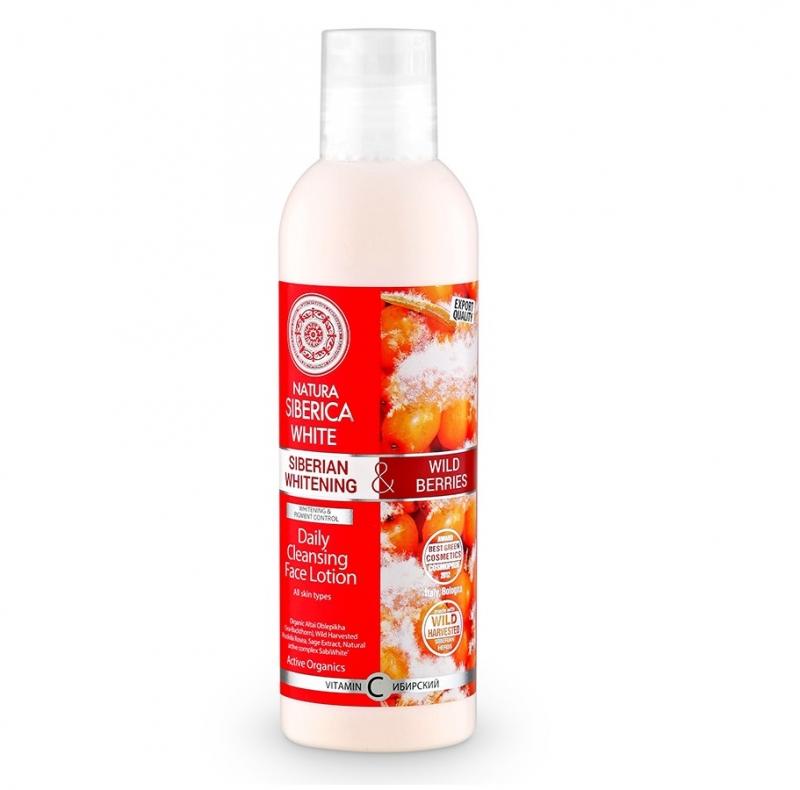 Очищающий кремообразный лосьон с эффектом осветления Natura Siberica White лосьон для лица Ежедневное очищение