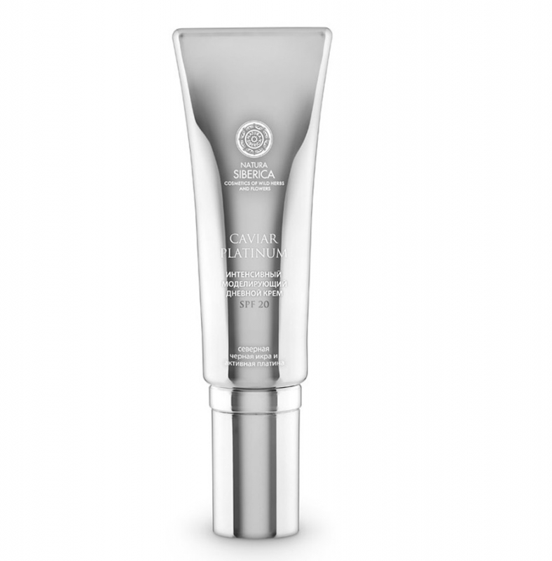 Дневной моделирующий крем для лица Natura Siberica Caviar Platinum интенсивный моделирующий дневной крем