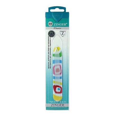 Стеклянная пилка - идеальный маникюрный инструмент Zinger Пилка стеклянная FG-02-12 zinger пилка стеклянная двухсторонняя zo fg 02 10 case цвет красный