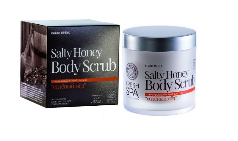Скраб для тела Соленый мед Natura Siberica Bania Detox скраб для тела соленый мед