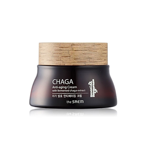 Крем с экстрактом гриба чаги The Saem Chaga Anti-Wrinkle Cream эмульсия с экстрактом чаги the saem chaga anti wrinkle emulsion