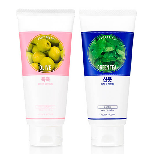 Очищающая пенка для кожи Holika Holika Daily Fresh Cleansing Foam 300ml крем holika holika daily fresh olive cleansing cream объем 430 мл