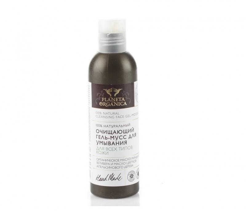 Planeta Organica Гель-мусс очищающий для умывания для всех типов кожи Planeta Organica
