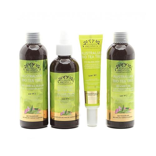 Набор средств для глубокого очищения волос и баланса кожи головы Planeta Organica PO Набор Australian Bio Tea Tree