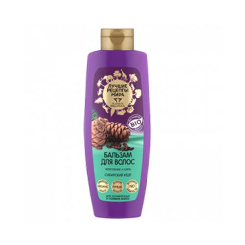 Бальзам для ухода за волосами с маслом сибирского кедра Planeta Organica Лучшие Рецепты Мира бальзам для волос Сибирский кедр